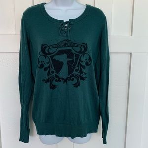 Disney Brave Green Tie Front Sweater